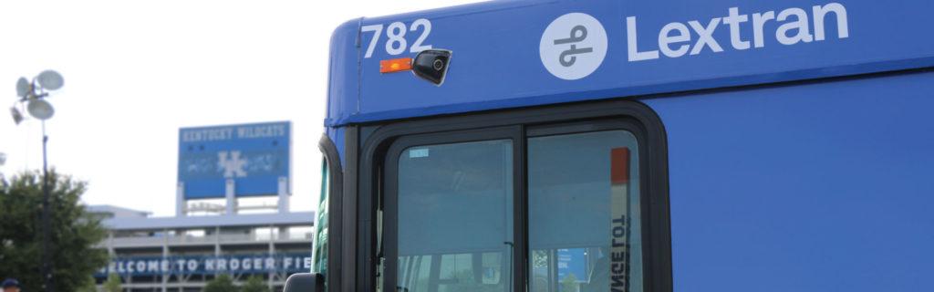 Lextran bus in front of Kroger Field